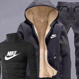 Спортивные костюмы - Тёплый мужской спортивный костюм Nike р-ры 44-54, 0