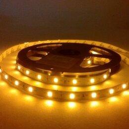 Светодиодные ленты - Светодиодная лента 12В 4,8Вт/М  IP20  60Led/M  желтая, 0