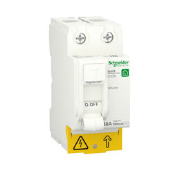 Концевые, позиционные и шарнирные выключатели - SE RESI9 Выключатель дифференциального тока (УЗО) 40А 2P 300мА тип AC, 0