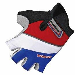 Защита и экипировка - Велоперчатки детские TBS, красный/белый/синий (Размер: L (7,5х11,3см)), 0