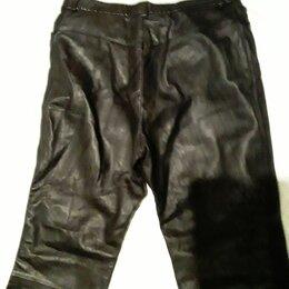 Брюки - Кожаные брюки лайковые, 0