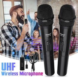 Микрофоны и усилители голоса - Беспроводные микрофоны 2шт V20-TU AUX, 0