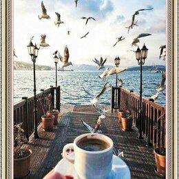 """Рукоделие, поделки и сопутствующие товары - Алмазная вышивка """"Доброе утро с чайками"""" , 0"""