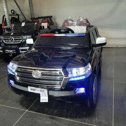 Электромобили - Детский электромобиль тойота ленд крузер 200 полиция, 0