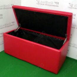 Пуфики - Банкетка прямоугольник с откидной крышкой 830х370х360мм, цвет красный, BN-001..., 0