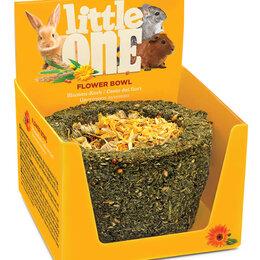 Лакомства  - LITTLE ONE Цветочное лукошко лакомство-игрушка для грызунов 140гр , 0