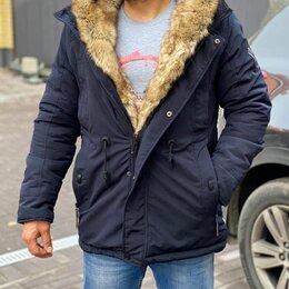 Куртки - Куртка парка мужская зимняя с натуральным мехом р-ры 44-56, 0