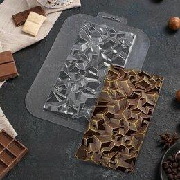 Формы для льда и десертов - Форма для шоколада «Плитка Сломанный кристалл», 0