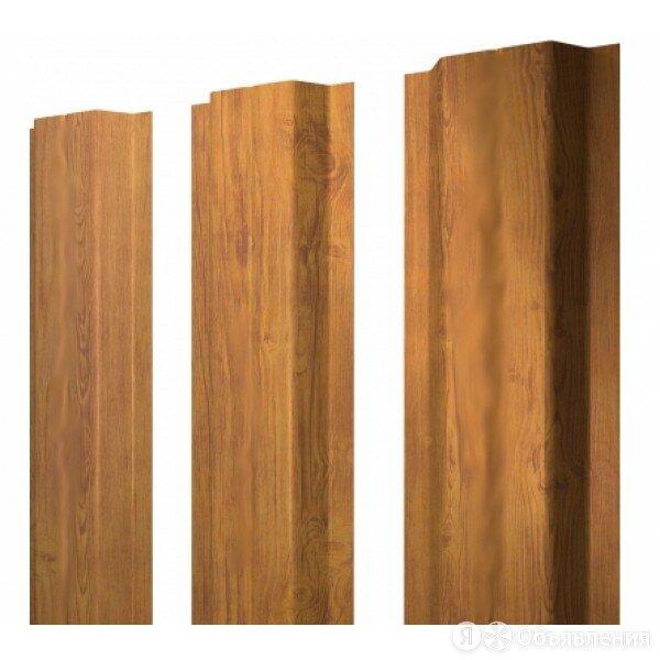 Grand Line Штакетник металлический, П-образный, Golden Dub (под дерево),  2 х... по цене 190₽ - Заборы, ворота и элементы, фото 0