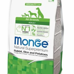 Корма  - Monge д/собак 2,5кг Dog Speciality д/всех пород КРОЛИК с рисом и картофелем 7001, 0
