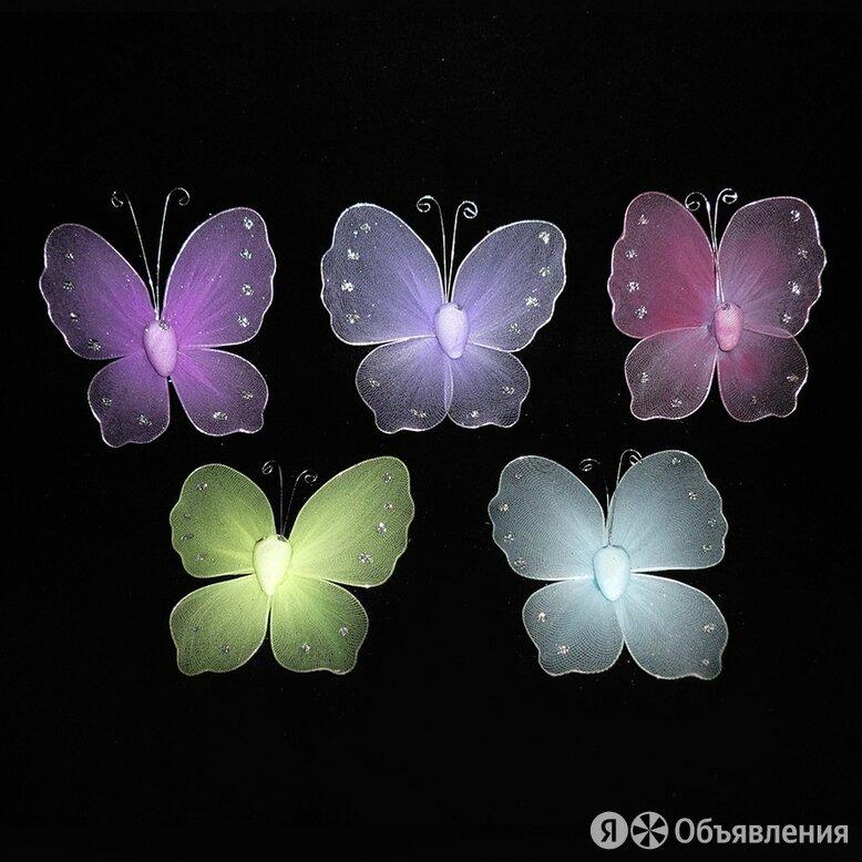 Бабочка на булавке капрон 10х10см 1шт по цене 50₽ - Посуда, фото 0