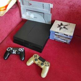 Игровые приставки - Playstation 4 500gb полный комплект, 0