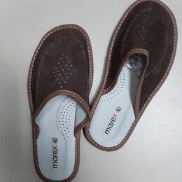 Домашняя обувь - Кожаные  домашние тапочки мужские, 0