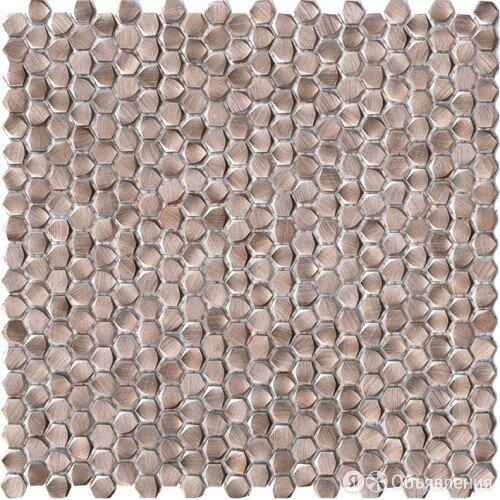 Плитка L Antic Colonial Gravity L100187415 Aluminium Hexagon Rose Gold Мозаик... по цене 5530₽ - Керамическая плитка, фото 0