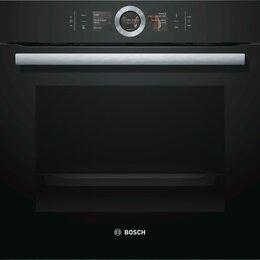 Духовые шкафы - Электрический духовой шкаф с микроволнами Bosch HNG6764B6, 0