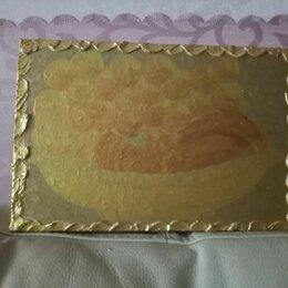 """Картины, постеры, гобелены, панно - Картина """" Фрукты с виноградом в золотой вазе """", 0"""