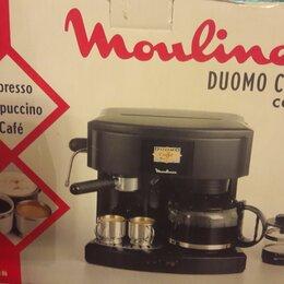 Кофеварки и кофемашины - Кофеварка moulinex q86 duomo caffe combi, 0