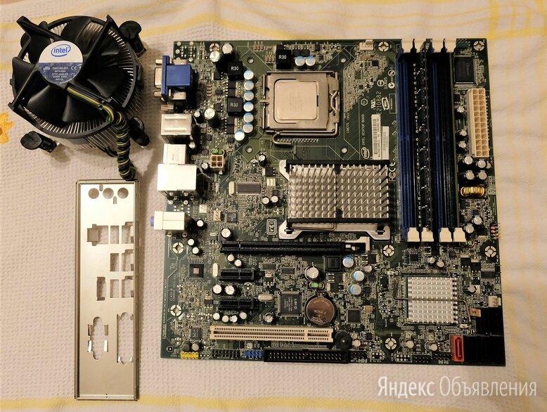 Материнская плата Intel DQ35JOE + Core 2 Duo E6750 по цене 900₽ - Материнские платы, фото 0