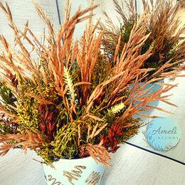 Цветы, букеты, композиции - Композиция из сухоцветов и искусственных цветов, 0