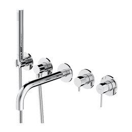 Краны для воды -  Встраиваемый смеситель для ванны Omnires Y Y1237/1CR (хром), 0