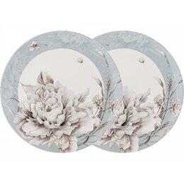 Блюда, салатники и соусники - Набор тарелок закусочных Lefard White flower 23см 2шт голубой,фарфор, 0