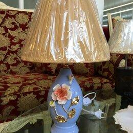Настольные лампы и светильники - Керамическая настольная лампа, 0