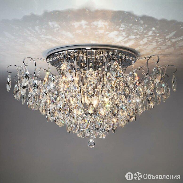Потолочная люстра Eurosvet 10081/12 хром/прозрачный хрусталь Strotskis по цене 73300₽ - Люстры и потолочные светильники, фото 0