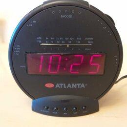 Часы настольные и каминные - Радио часы будильник atlanta AT-38, 0