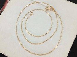 Цепи - Золотая цепочка • Снейк 585°, размер 45 см, 0