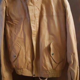 Куртки - Кожаная мужская куртка демисезонная 46-48 размер, 0