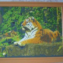 "Картины, постеры, гобелены, панно - Картина "" Тигр на камнях "", 0"