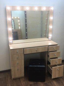 Комоды - Туалетный столик с ящиками зеркалом и подсветкой…, 0