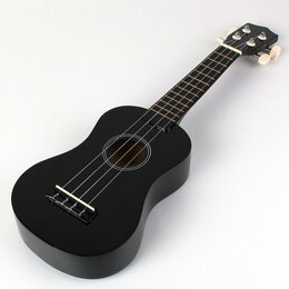 Укулеле - Укулеле сопрано black (черная), 0