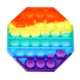 Игрушки-антистресс - Вечная пупырка антистресс Pop It трапеция радужная, 0