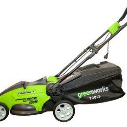 Газонокосилки - Газонокосилка электрическая Greenworks GLM1240, 0