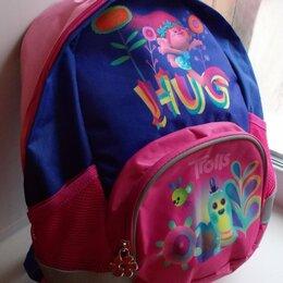 Рюкзаки, ранцы, сумки - Рюкзак розово-синий «Тролли». Размер 36*32*11см. Новый. , 0