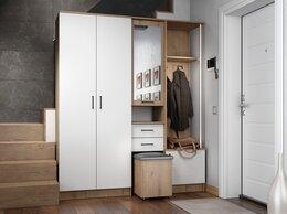 Шкафы, стенки, гарнитуры - Прихожая Дуся 1,7 дуб бунратти/белый глянец, 0