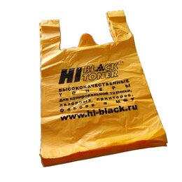 Бумага и пленка - Пакет-майка Hi-Black, ПНД, цвет-желтый, 380x600 мм (в упаковке 100 шт.), 0