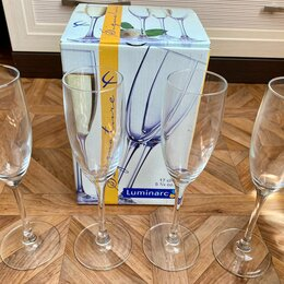 Бокалы и стаканы - Новые фужеры для шампанского  Luminarc 17cl, 8 шт., 0