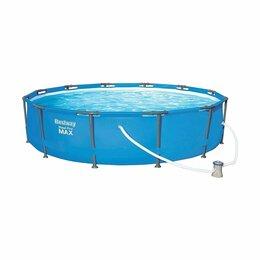Бассейны - Каркасный бассейн Steel Pro MAX 366x76 см круглый (6473 л) Bestway, 0