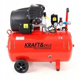 Воздушные компрессоры - Компрессор масляный KRAFT 50Л, 0