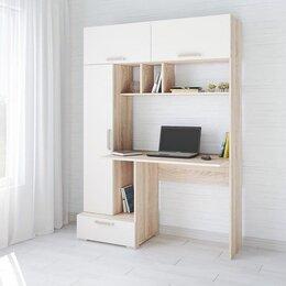 Компьютерные и письменные столы - Стол Квартет 11 💥 дуб сонома - белый 💥 0751💥, 0