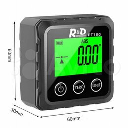 Измерительные инструменты и приборы - Угломер цифровой Инклинометр R&D PT180, 0