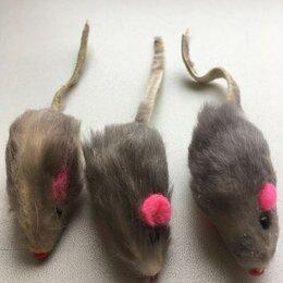 Игрушки - Игрушки-мышки короткий мех 2 набора по 3 для кошек, 0