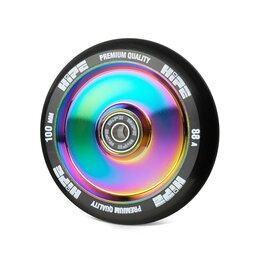 Обода и велосипедные колёса в сборе - Колесо HIPE Solid 100мм neo-chrome/черный, 0