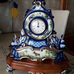 Часы настольные и каминные - Гжель часы настольные охота, 0
