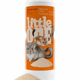Игрушки и декор  - Песок для купания шиншилл и других декоративных животных Little One, 0