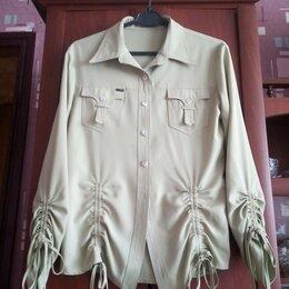 Блузки и кофточки - Рубашка фисташкового цвета. , 0