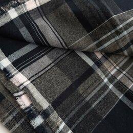 Ткани - Ткань на юбку в клетку, лёгкая шерсть, 120х150, 0