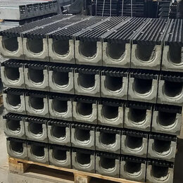 Комплектующие для радиаторов и теплых полов - Лоток водоотводный бетонный коробчатый, 0